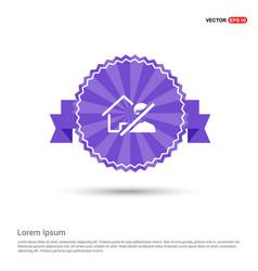 Do not enter icon - purple ribbon banner vector