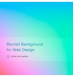 Elegant blue blurred background for web design vector image