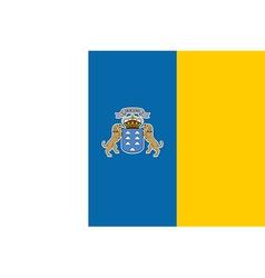 Flag of Canary Islands vector