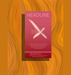 Flyer cover business brochure design leaflet vector