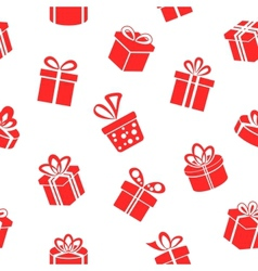 Gift pattern vector