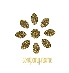 Gold company name for luxury shop vector