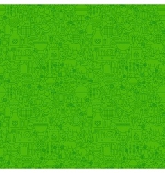 Green Line Grill Seamless Pattern vector image