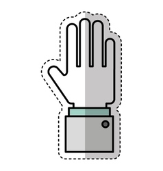 Hand human isolated icon vector