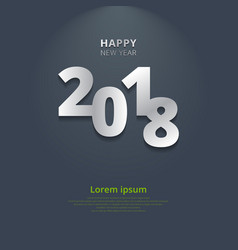 happy new year 2018 with lighting on gray vector image
