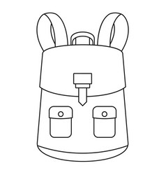Haversack icon outline style vector
