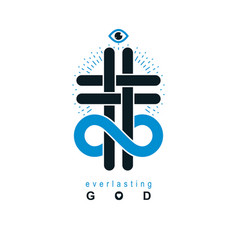 immortal god conceptual logo design combined with vector image