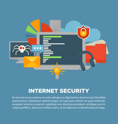 Internet security and computer malware digital vector
