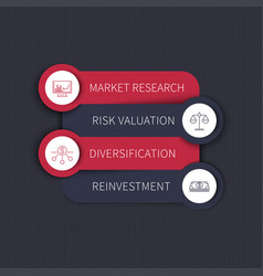 investment strategy infographic elements vector image