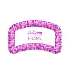 lollipop violet frame vector image