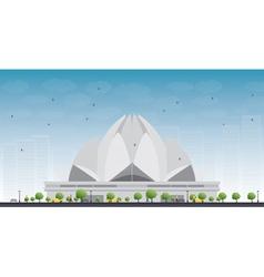 Lotus temple vector