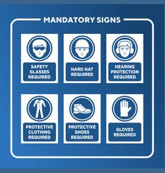 mandatory sign set vector image