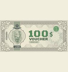 money banknotes with portrait lion vector image