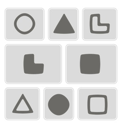 Monochrome icons with socionic symbols vector