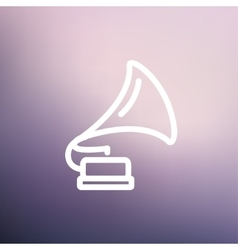 Phonograph thin line icon vector