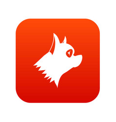 Pinscher dog icon digital red vector