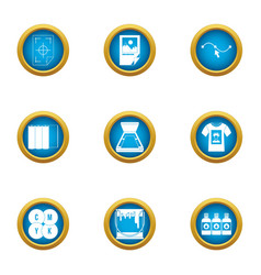 Polygraphy icons set flat style vector