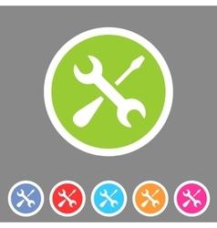 Repair icon flat web sign symbol logo label set vector image