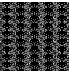 Seamless geometrical pattern vintage background vector image