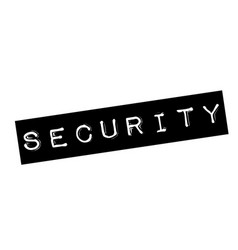 Security stamp on white vector