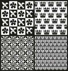 set medieval patterns vector image