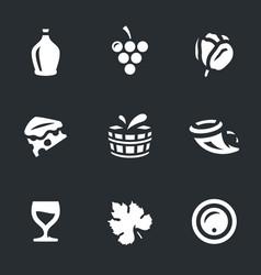 set wine icons vector image