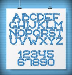 Sketch font vector image