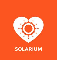 Solarium logo sun and heart vector