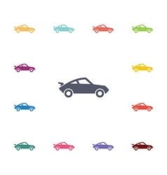 sport car flat icons set vector image