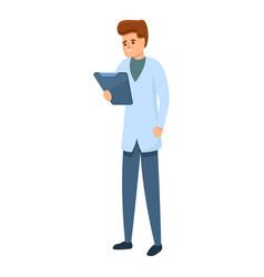 Sport doctor analyze diagnostic icon cartoon vector