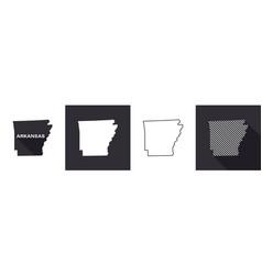 State arkansas map arkansas united states vector