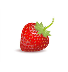strawberry isolated on white background clipping vector image