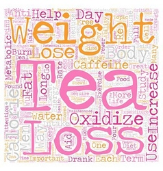 Tea s Potential For Weight Loss text background vector image