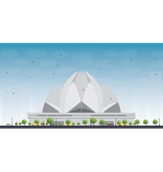 The Lotus Temple vector image