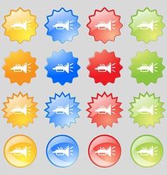 Trumpet brass instrument icon sign Set from vector