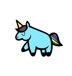 unicorns isolated on white vector image