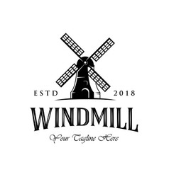 Vintage windmill logo designs classic and luxury vector