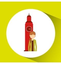 visit london design vector image