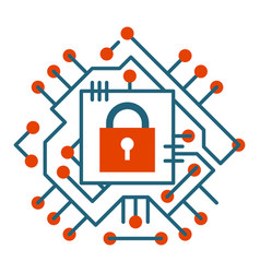 web security technology digital internet cyber vector image