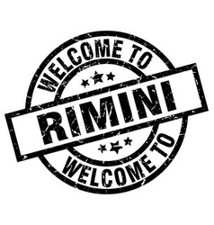 Welcome to rimini black stamp vector