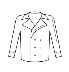 Wool coat line icon vector