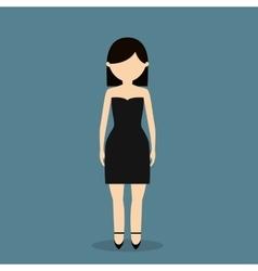 Young fashionable woman icon image vector