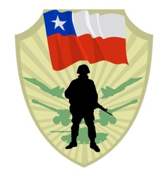 Army of Chile vector image vector image