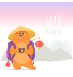 bear in china vector image vector image