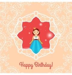 Beautiful cartoon princess vector image vector image
