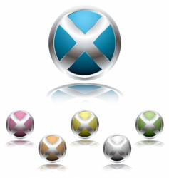 cross button shadow vector image vector image