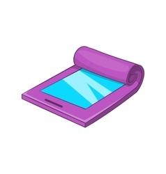 Flexible tablet icon cartoon style vector image vector image