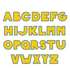 Hand Drawn creative Alphabet vector image vector image