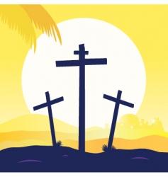 Jesus crucifixtion vector image