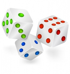 three dices for dribbling vector image vector image